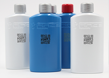 PET bottles with different pigmentation and laser marking